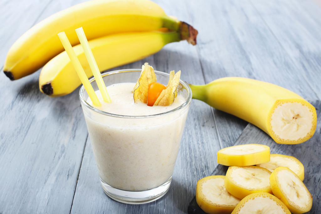 Banana tropical smoothie
